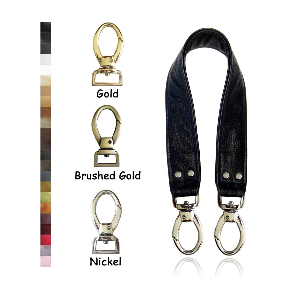 """Image of 20"""" (inch) Leather Handle Strap - 1.5"""" Wide - Your Choice of Leather Color & Hook #2"""