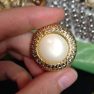 """Image of Thick Golden Pearl Plugs (sizes 0g-1"""")"""