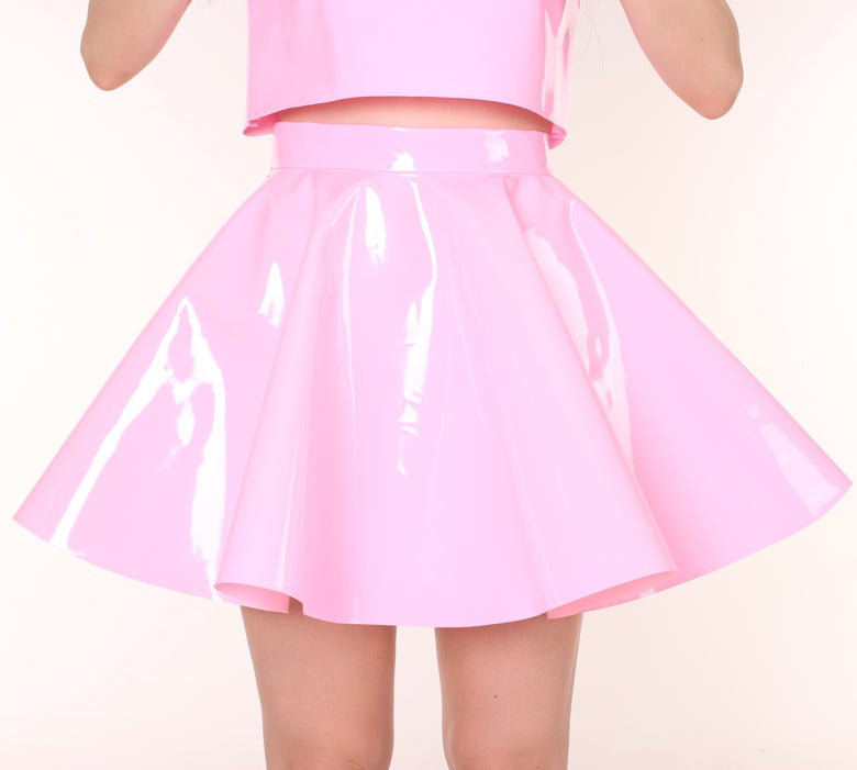 Image of Made To Order - Pink PVC Skirt by GFD