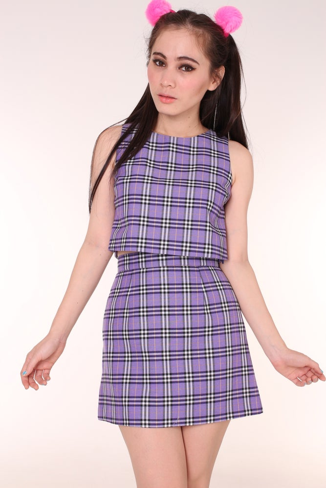 Image of PRE ORDER - Charli Purple Tartan Set