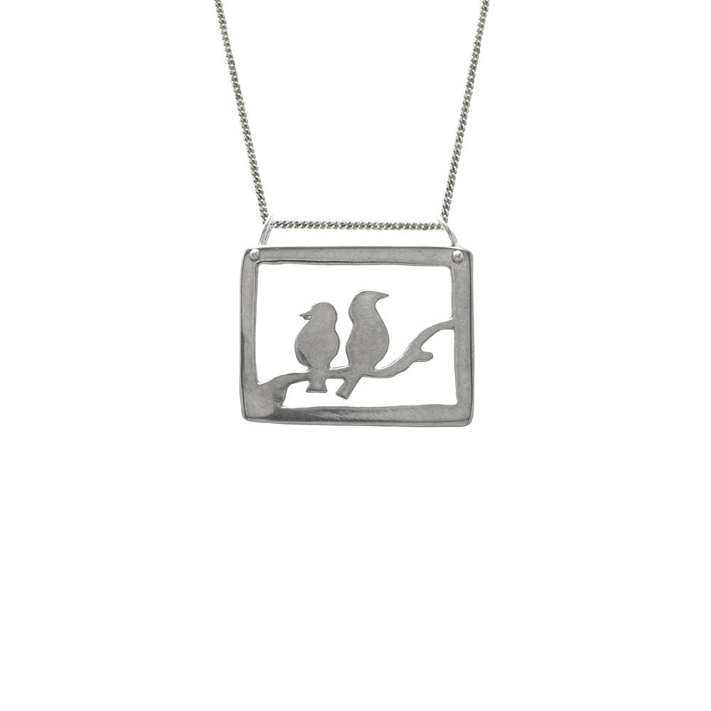 Image of Lovebirds Necklace Double