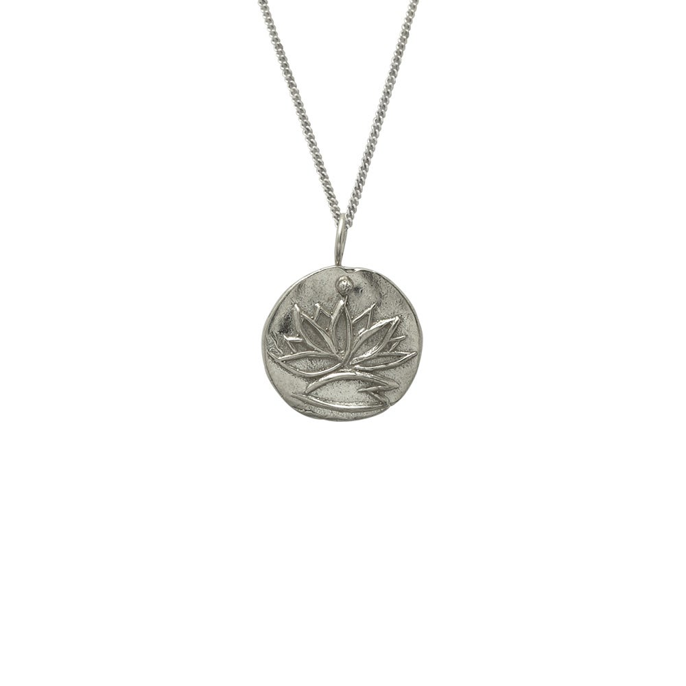 Image of Silver Medallion Necklace Lotus, Renewal