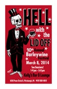"""Image of HELL WITH THE LID OFF 2014 Silkscreen Skeleton Print S/N 11"""" x 17"""""""