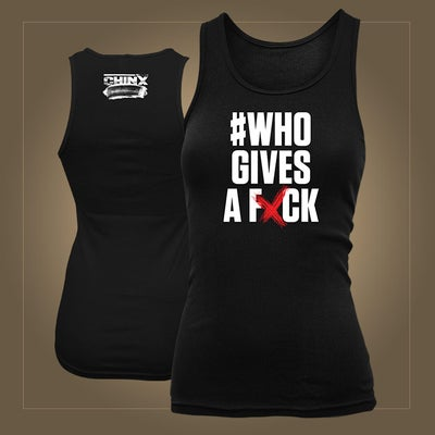 Image of #Who Gives a Fxck Tank Top - Womens