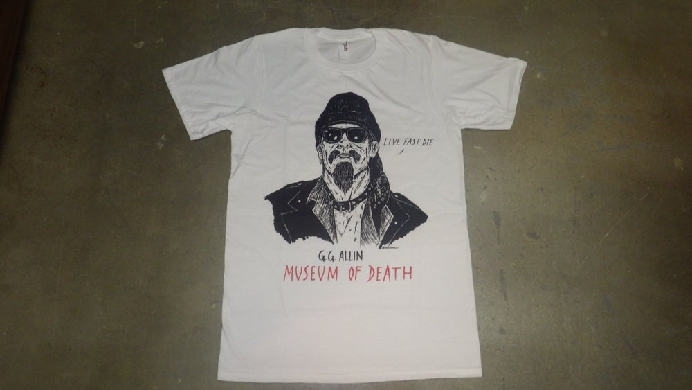 "Image of GG Allin ""Live Fast Die"" Shirt"