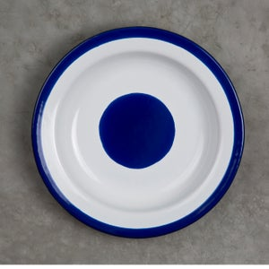 Image of Deep Enamel Plate COBALT 22cm