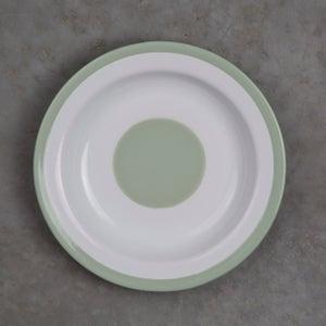 Image of Deep Enamel Plate GREEN ALMOND 22cm