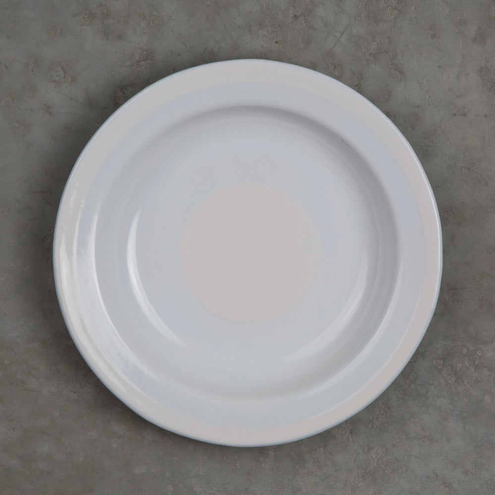 Image of Deep Enamel Plate WHITE 22cm