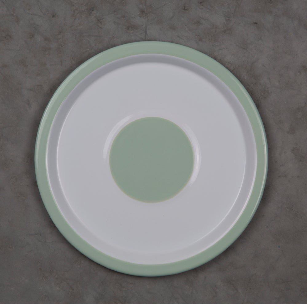 Image of Enamel Plate GREEN ALMOND 20cm