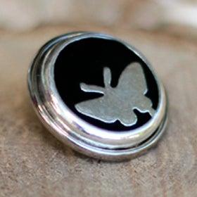Image of Botón Metal Mariposa