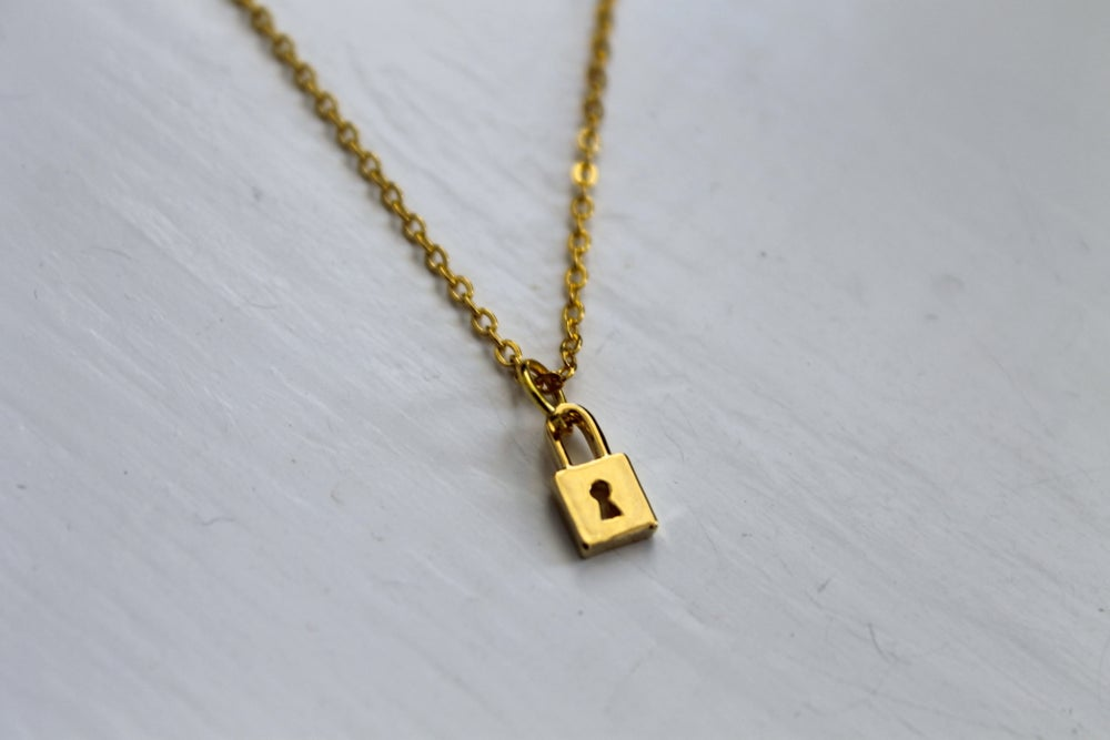 Image of Tiny Lock Necklace