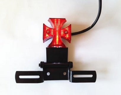 Image of Cafe Racer Taillight With Bracket - Cross