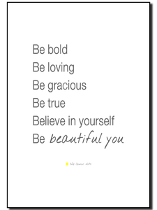Image of Be beautiful you