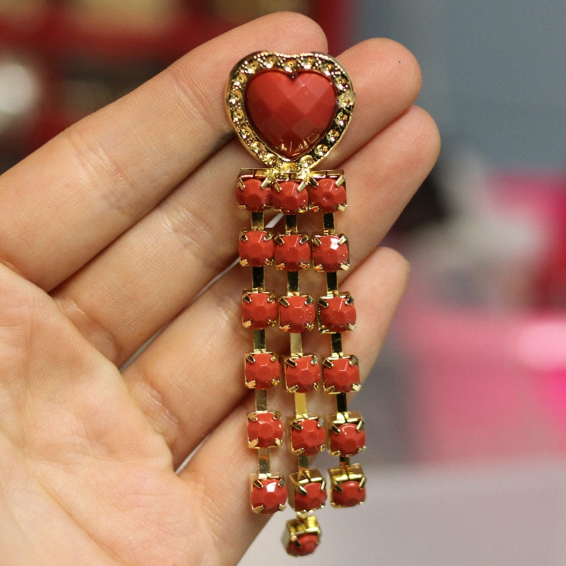Image of Heart Dangle Plugs (sizes 00g-5/8)