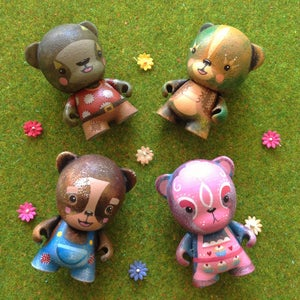 Image of BURNTWOOD BEARS - Micro Munny Custom Series