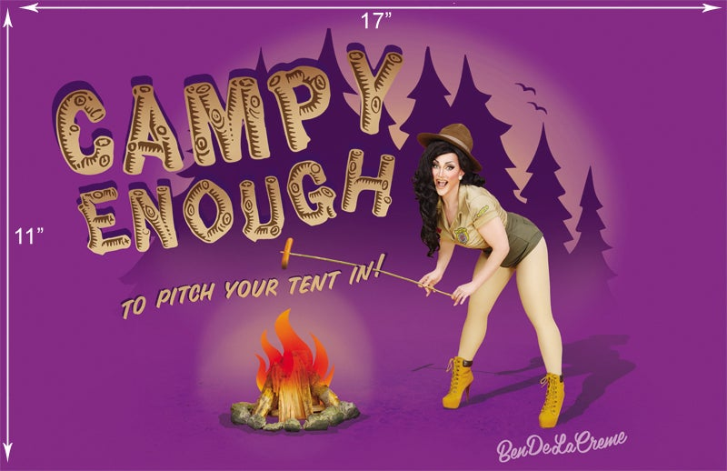 """Image of Campy Enough Poster, 11"""" x 17"""""""