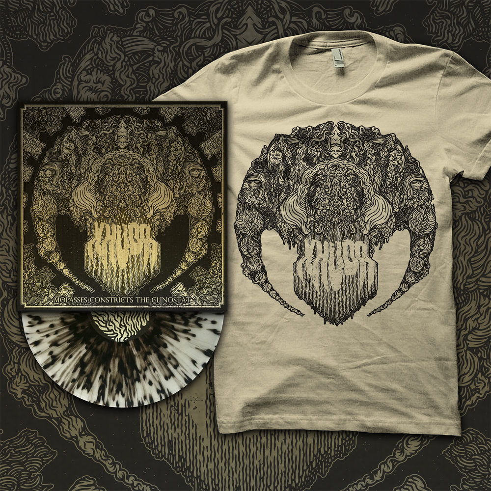 """Image of BUNDLE (LIMITED STOCK) """"Molasses Constricts the Clinostat"""" 12"""" + Limited Edition T Shirt."""