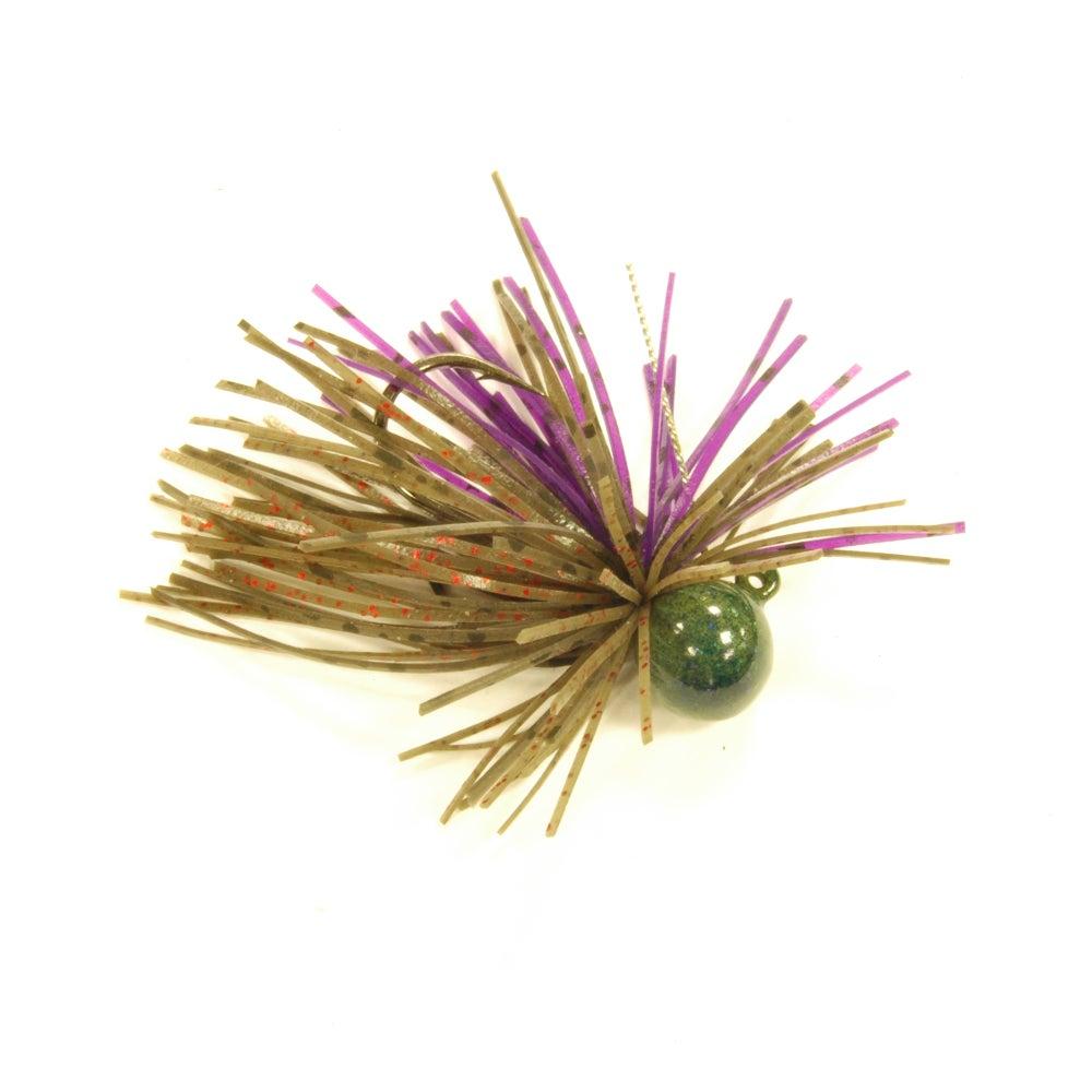 Image of Purple w/ Black Fleck x Green w/ Red Fleck x Green Pumpkin