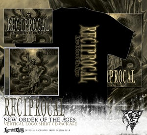 Image of RECIPROCAL - vertical logo shirt CD / DIGIPACK package