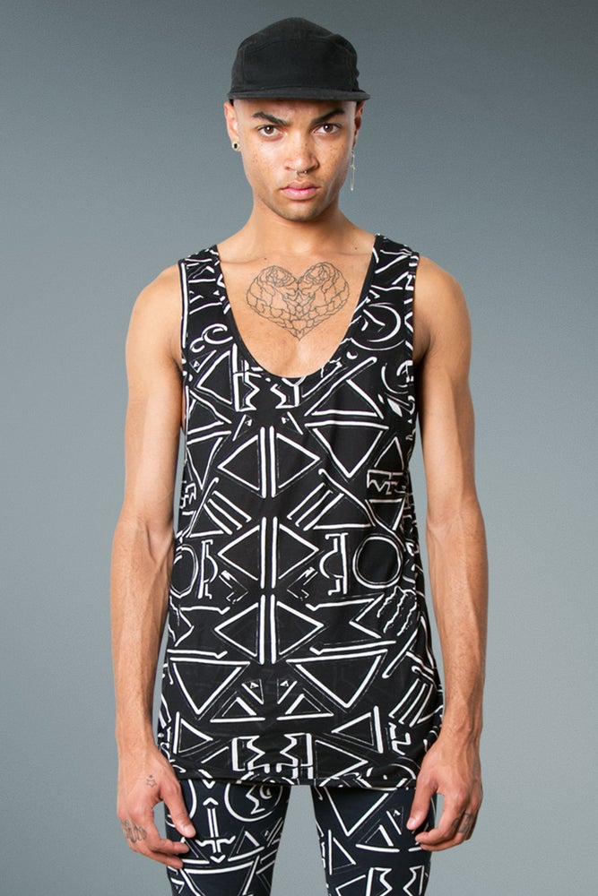 Image of Vest with Occult Print