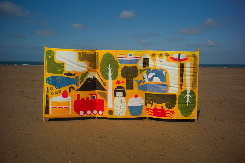 Image of Beach windbreak: 'Bento Box' by Hanako Clulow