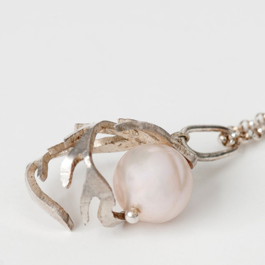 Image of Botanical Pearl Fern Charm Necklace
