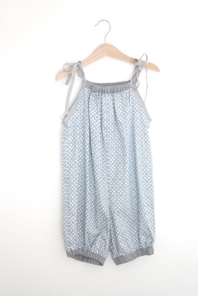 Image of 50s Playsuit-blue pattern