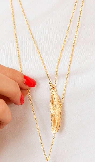 Image of Medium feather necklace