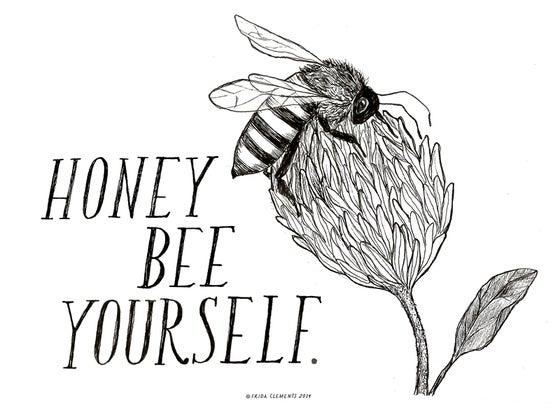 Image of Honey Bee Yourself  / Mini Print