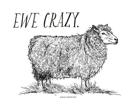 Image of Ewe Crazy / Mini Print