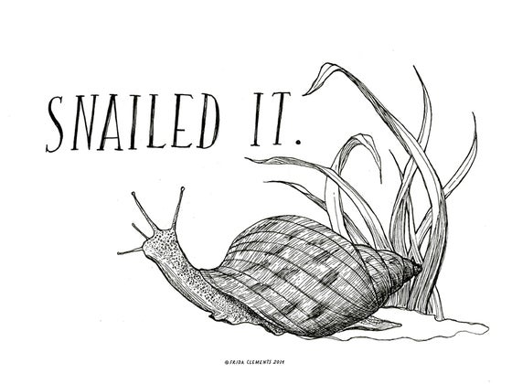 Image of Snailed It / Mini Print