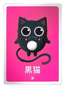 Image of Black Cat - Rose