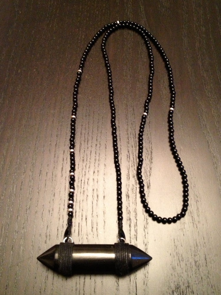 Image of Long & Lean Infinity with Shungite Double Terminated