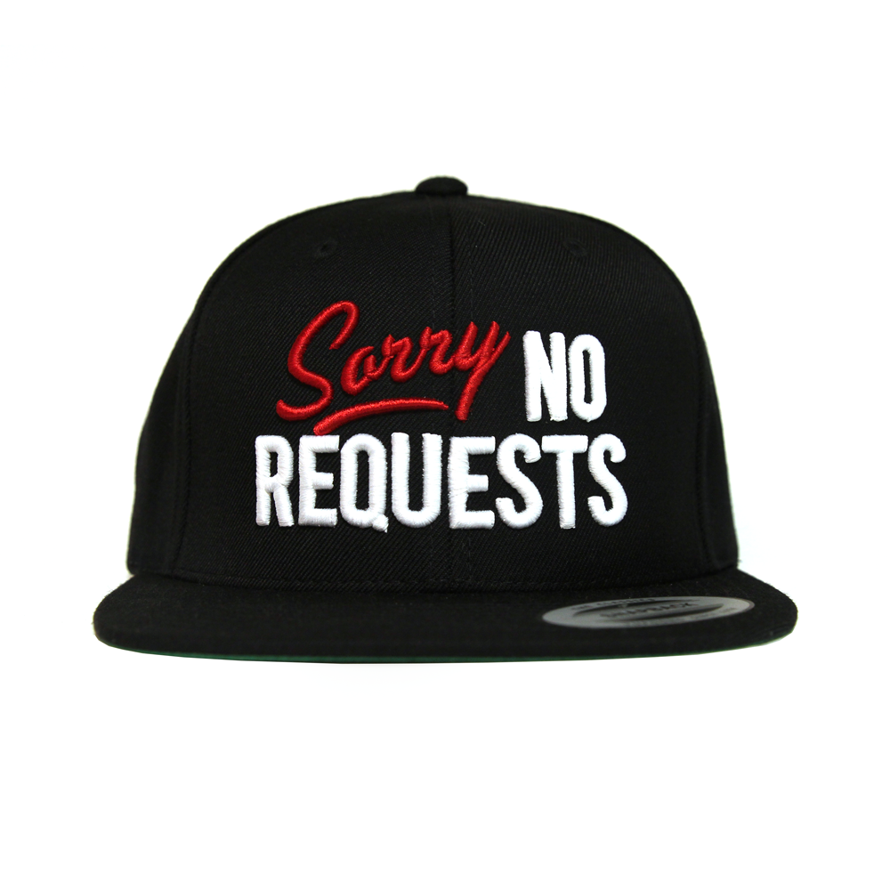 Image of Sorry No Requests Snapback (Black/Red)
