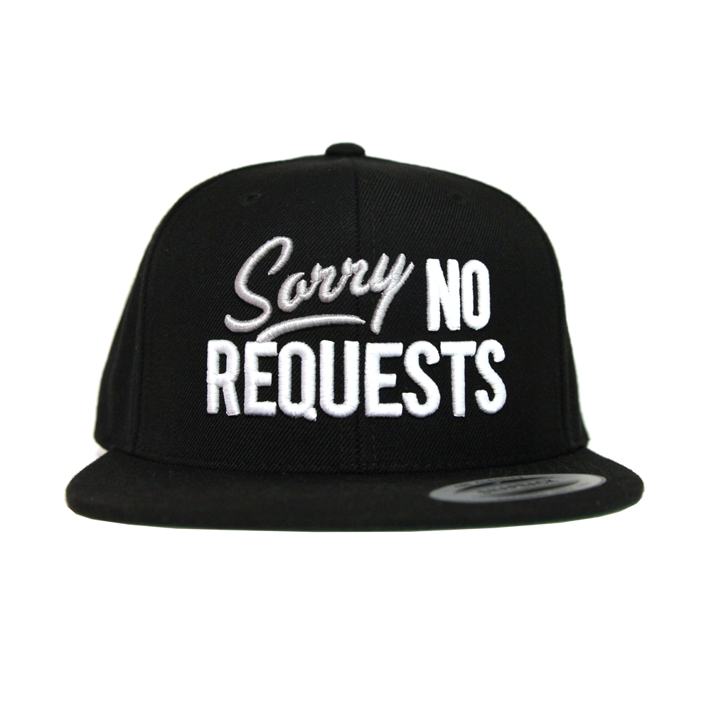 Image of Sorry No Requests Snapback (Black/Gray)