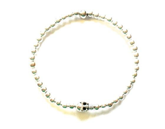 Image of Kool Jewels Skull Charm Bracelet
