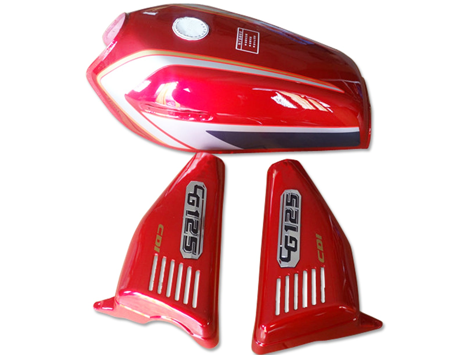 Cafe Racer Honda Cg125 Fuel Tank Gas Tank Cover Set 2