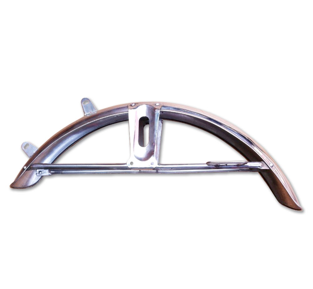 Image of Honda CG125 Front Metal Fender Mud Guard With Number Plate Basket
