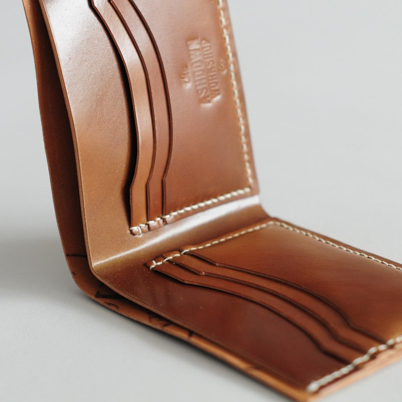 Image of Premium Bi-Fold Wallet - Horween® Shell Cordovan Whiskey