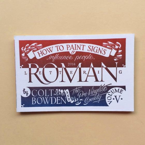Image of Volume 5 Roman Lettering Letterpress Cover