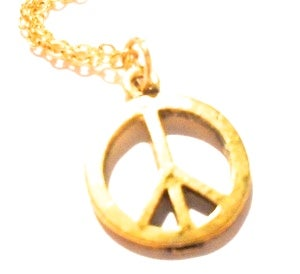 Image of Silvertone / Goldtone Peace CND Charm Necklace