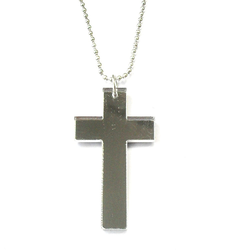 Image of Funky oversized mirrored cross SOLD OUT