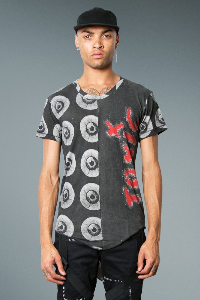 Image of Long Fit T-Shirt with 'Toxic' Print