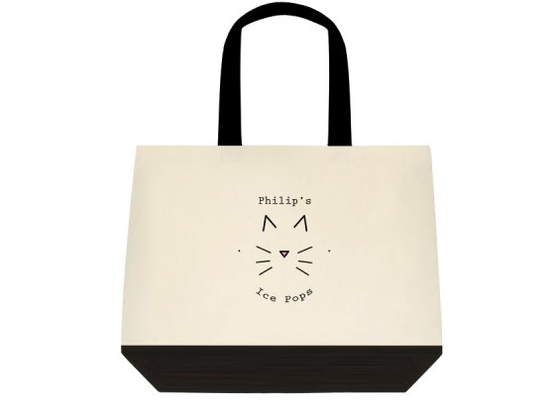 Image of Logo Two-Toned Tote Bag