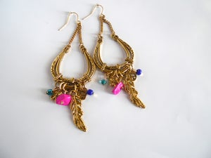 Image of Gold Colorful earrings