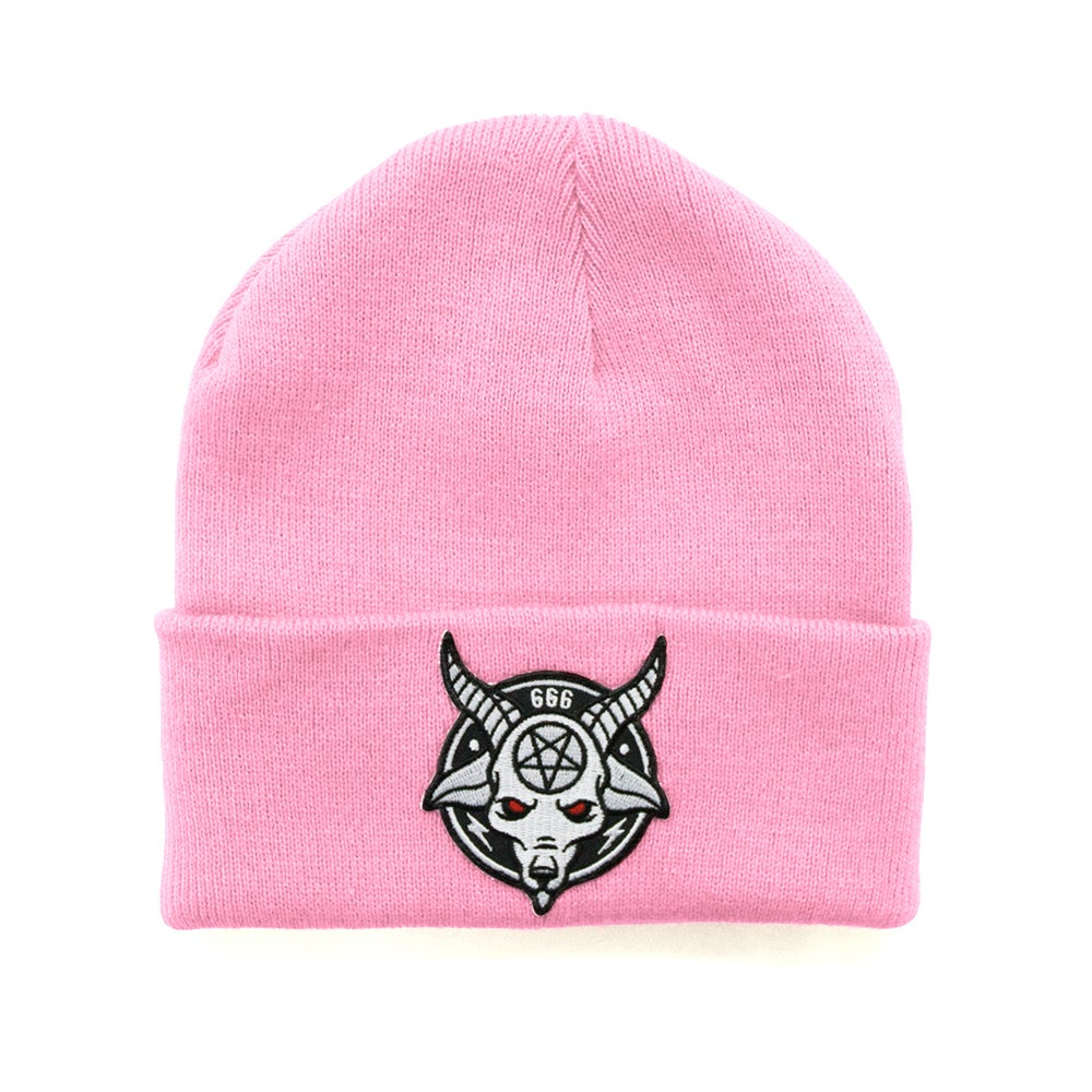 Image of Baby Pink Rams Head Beanie