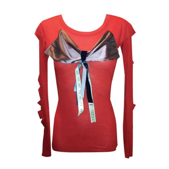 Image of Pretty Disturbia red alternative punk grunge rockabilly bow top