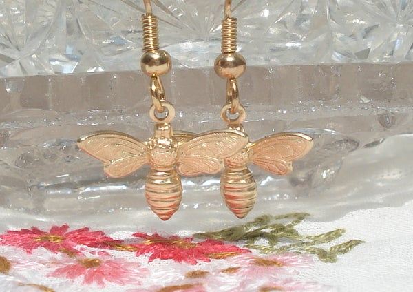 Image of Flying bee earrings