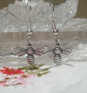 Image of Flying bee earrings