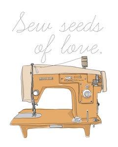 Image of Sew seeds.
